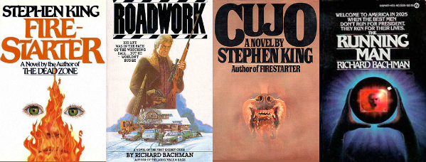 Firestarter, Roadwork, Cujo, The Running Man